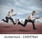 conceot of competition with two ... | Shutterstock . vector #130097864