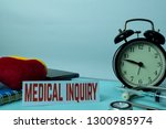 medical inquiry planning on... | Shutterstock . vector #1300985974