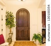 classic american home entrance... | Shutterstock . vector #130100354