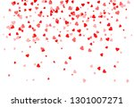 falling red hearts background | Shutterstock .eps vector #1301007271