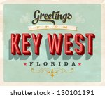 vintage touristic greeting card ... | Shutterstock .eps vector #130101191