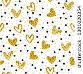 seamless pattern with gold... | Shutterstock .eps vector #1301020354