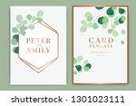 summer wedding invitation... | Shutterstock .eps vector #1301023111