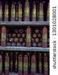 latvia  riga 02 01 2016 bottles ... | Shutterstock . vector #1301028001