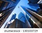 looking up at chicago's... | Shutterstock . vector #130103729