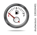 fuel indicator shows low fuel... | Shutterstock . vector #130104401