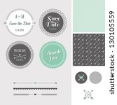 mint   gray save the date... | Shutterstock .eps vector #130105559