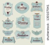 vintage label   wedding... | Shutterstock .eps vector #130107041