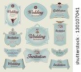 vintage label   wedding... | Shutterstock .eps vector #130107041