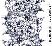 flower print. elegance seamless ... | Shutterstock . vector #1301089357