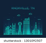knoxville skyline  tennessee ... | Shutterstock .eps vector #1301092507