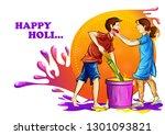 vector illustration of indian... | Shutterstock .eps vector #1301093821