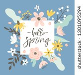 spring greeting card with...   Shutterstock .eps vector #1301095294