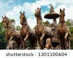 kurukshetra city in haryana...   Shutterstock . vector #1301100604