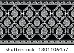 seamless black and white... | Shutterstock .eps vector #1301106457