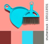 color matching palette. a pale... | Shutterstock . vector #1301113531
