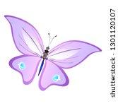 beautiful pink butterflies...   Shutterstock .eps vector #1301120107