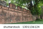 the ancient wall of 185 years... | Shutterstock . vector #1301136124