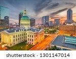 st. louis  missouri  usa... | Shutterstock . vector #1301147014