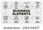business elements line icon set
