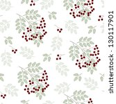 seamless floral pattern with... | Shutterstock . vector #130117901