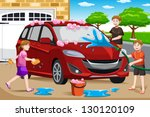 a vector illustration of happy... | Shutterstock .eps vector #130120109