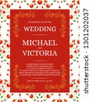 traditional wedding invite card ... | Shutterstock .eps vector #1301202037
