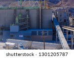 very large and old cement plant ... | Shutterstock . vector #1301205787