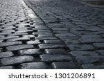 cobbled stone road  reflection...   Shutterstock . vector #1301206891