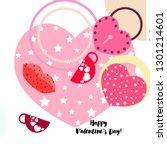 valentine's day  mug  lock ...   Shutterstock .eps vector #1301214601