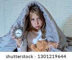 cute sleepless little girl... | Shutterstock . vector #1301219644