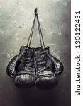 Old Boxing Gloves Hang On Nail...