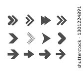 arrows flat vector icon set | Shutterstock .eps vector #1301224891