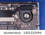 part of a disassembled laptop... | Shutterstock . vector #1301232994