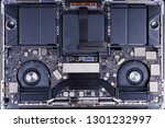 disassembled laptop with two... | Shutterstock . vector #1301232997