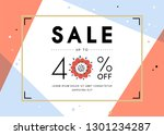 vector design for sale web... | Shutterstock .eps vector #1301234287
