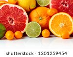 close up of citrus fruits.... | Shutterstock . vector #1301259454