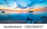 sunset long exposure on the... | Shutterstock . vector #1301263417