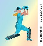 female cricket. abstract woman... | Shutterstock .eps vector #1301264194