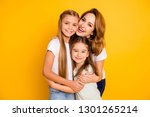 portrait of three nice cute... | Shutterstock . vector #1301265214