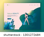 landing page website template... | Shutterstock .eps vector #1301272684