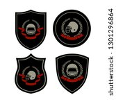 american football  sign helmet... | Shutterstock .eps vector #1301296864