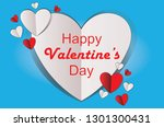 greeting happy valentine's day... | Shutterstock .eps vector #1301300431