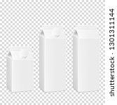 white cardboard package set for ... | Shutterstock .eps vector #1301311144