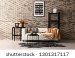 Stylish Interior Of Room With...