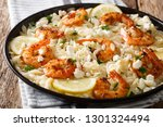spicy orzo pasta with grilled... | Shutterstock . vector #1301324494
