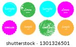 grunge post stamps collection ... | Shutterstock .eps vector #1301326501