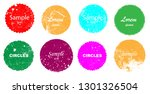 grunge post stamps collection ... | Shutterstock .eps vector #1301326504