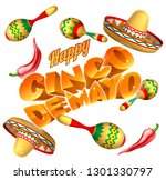 a cinco de mayo mexican holiday ... | Shutterstock .eps vector #1301330797