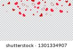 romantic background. red hearts ...   Shutterstock .eps vector #1301334907